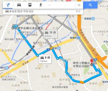 map神奈川県横浜市西区花咲町車で十数分