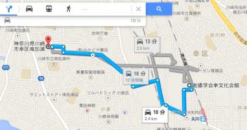 map神奈川県川崎市幸区南加瀬車で十数分