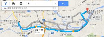map東京都日野市東平山1丁目車で十数分