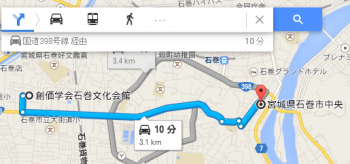 map宮城県石巻市中央車で十数分
