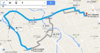 map神奈川県相模原市中央区陽光台車で十数分