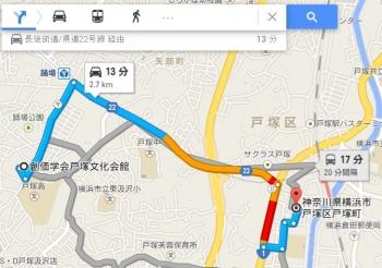 map神奈川県横浜市戸塚区戸塚町車で十数分