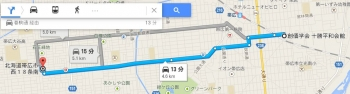 map北海道帯広市西18条南車で十数分