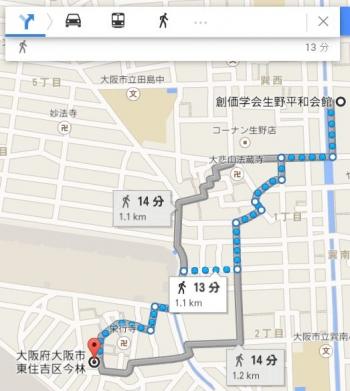 map大阪府大阪市東住吉区今林車で十数分