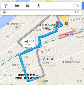 map新潟県新潟市中央区弁天車で十数分