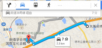 map大阪府堺市東区大美野車で十数分