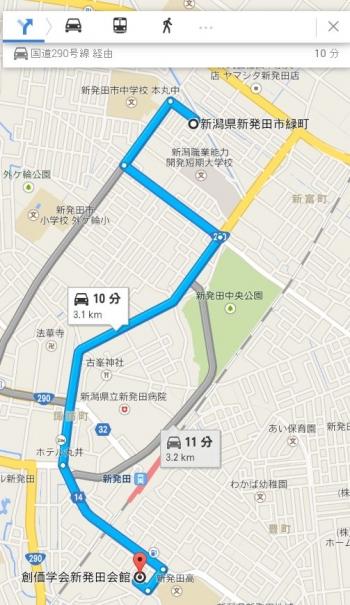 map新潟県新発田市緑町車で十数分