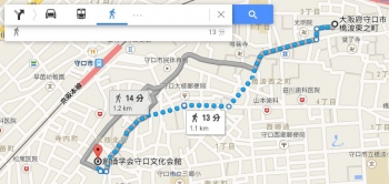 map大阪府守口市橋波東之町車で十数分