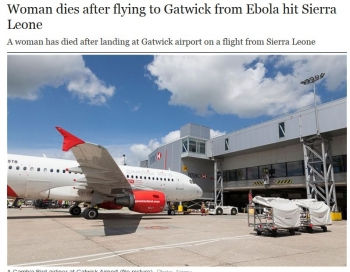 newsWoman dies after flying to Gatwick from Ebola hit Sierra Leone