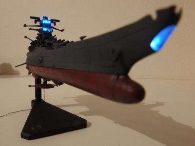 メカコレ 宇宙戦艦ヤマト2199のLEDで光らせてみた