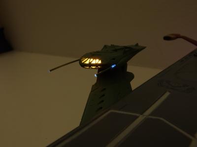 ガイペロン級 バルグレイの艦橋を電飾