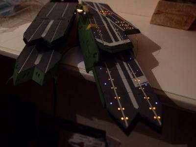ガイペロン級、バルグレイの甲板を電飾してみました