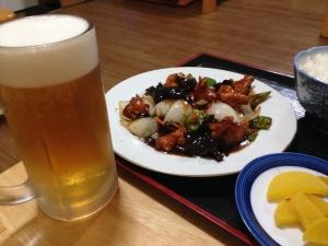 天福 酢鶏とビール