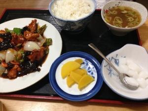 天福 酢鶏定食