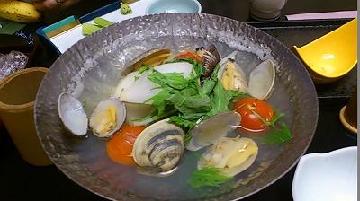 新玉ねぎとアサリの鍋