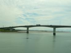 球磨川の河口を見る