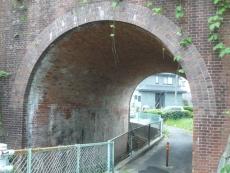 いかにもレトロなトンネルが