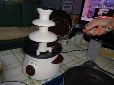 ④チョコフォンデュ