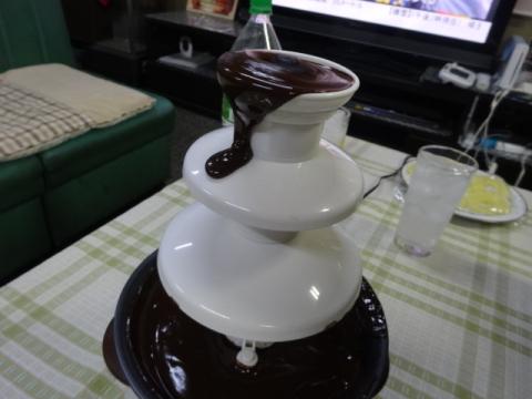 ⑤チョコフォンデュ