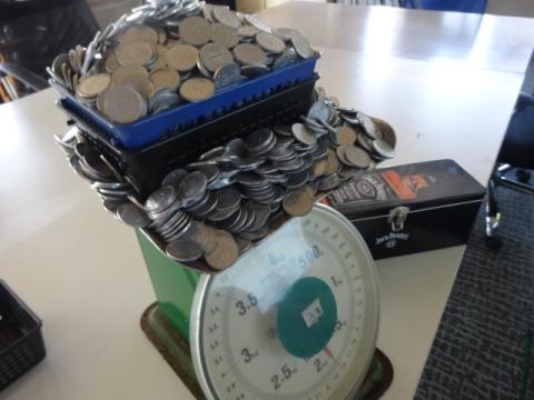 1円玉貯金③