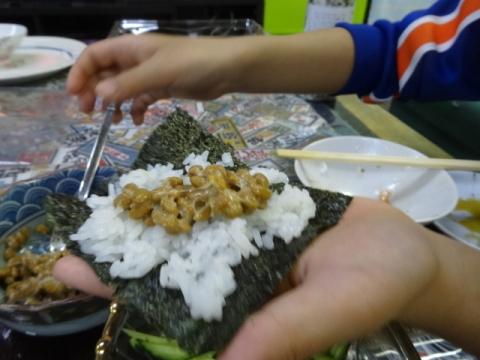 手巻き寿司④