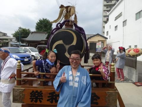 八坂神社神輿⑦ 大太鼓