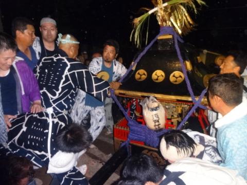 須賀神社祇園際⑳ 神輿がまた戻される