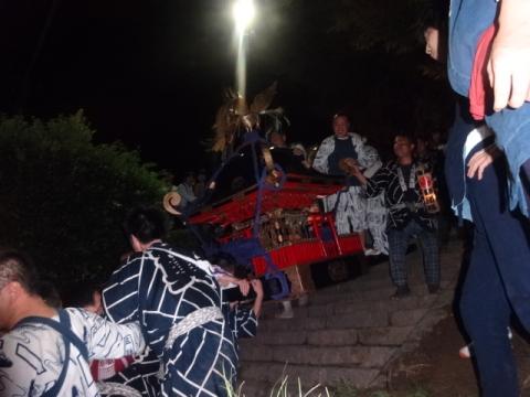 須賀神社祇園際㉑ 神輿を戻される