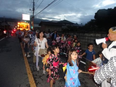 小幡祇園祭② 綱を引く子供たち