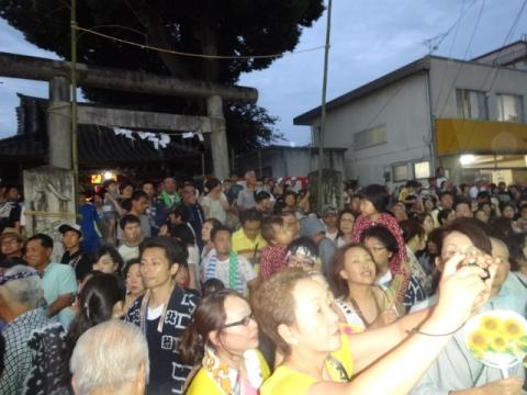 柿岡のおまつり⑩ 八坂神社前