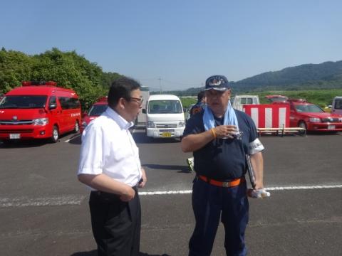 消防団操法大会⑧ 鈴木副団長と