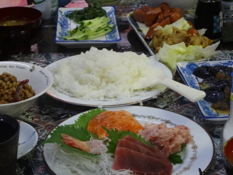 ママの21歳のバースデー④ 手巻き寿司
