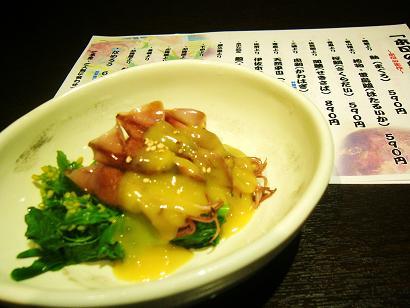 菜の花とホタルイカの酢味噌かけ (2)