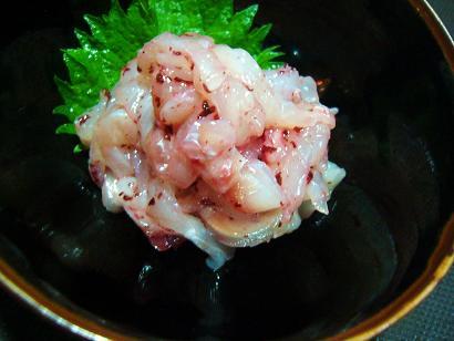 真鯛の梅肉和え (1)