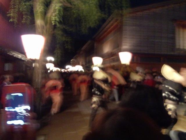 金沢・浅の川園遊会「越中八尾おわら流し」