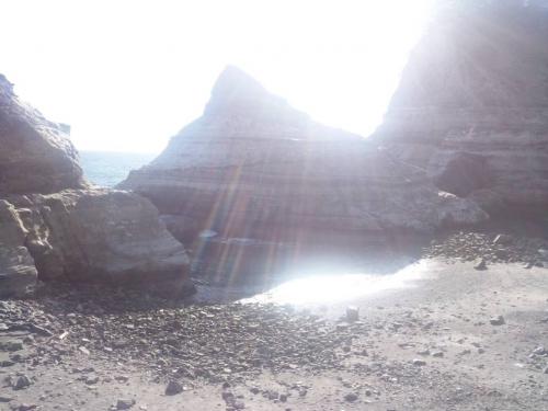 2014.3.22西伊豆の安城岬をアート的写真として撮れた