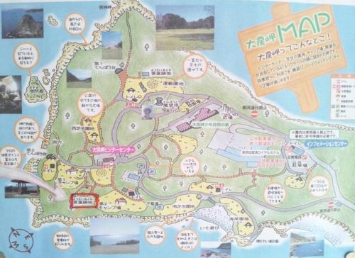 大房岬自然公園の見取り地図だ到着したぞ