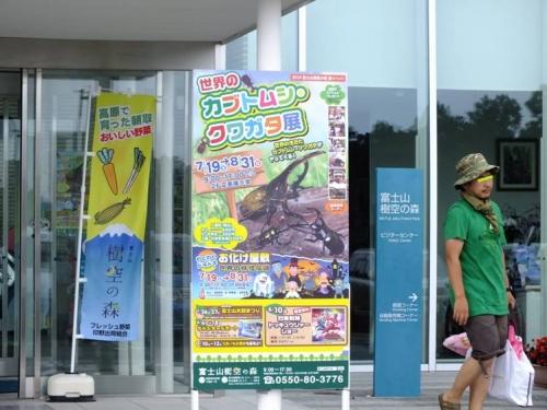 富士山樹空の森では世界のカブトムシ・クワガタ展が開催してた