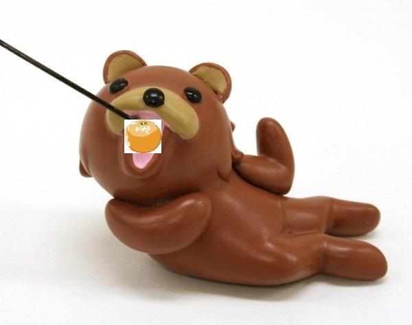 釣られたクマ―(inみかん)
