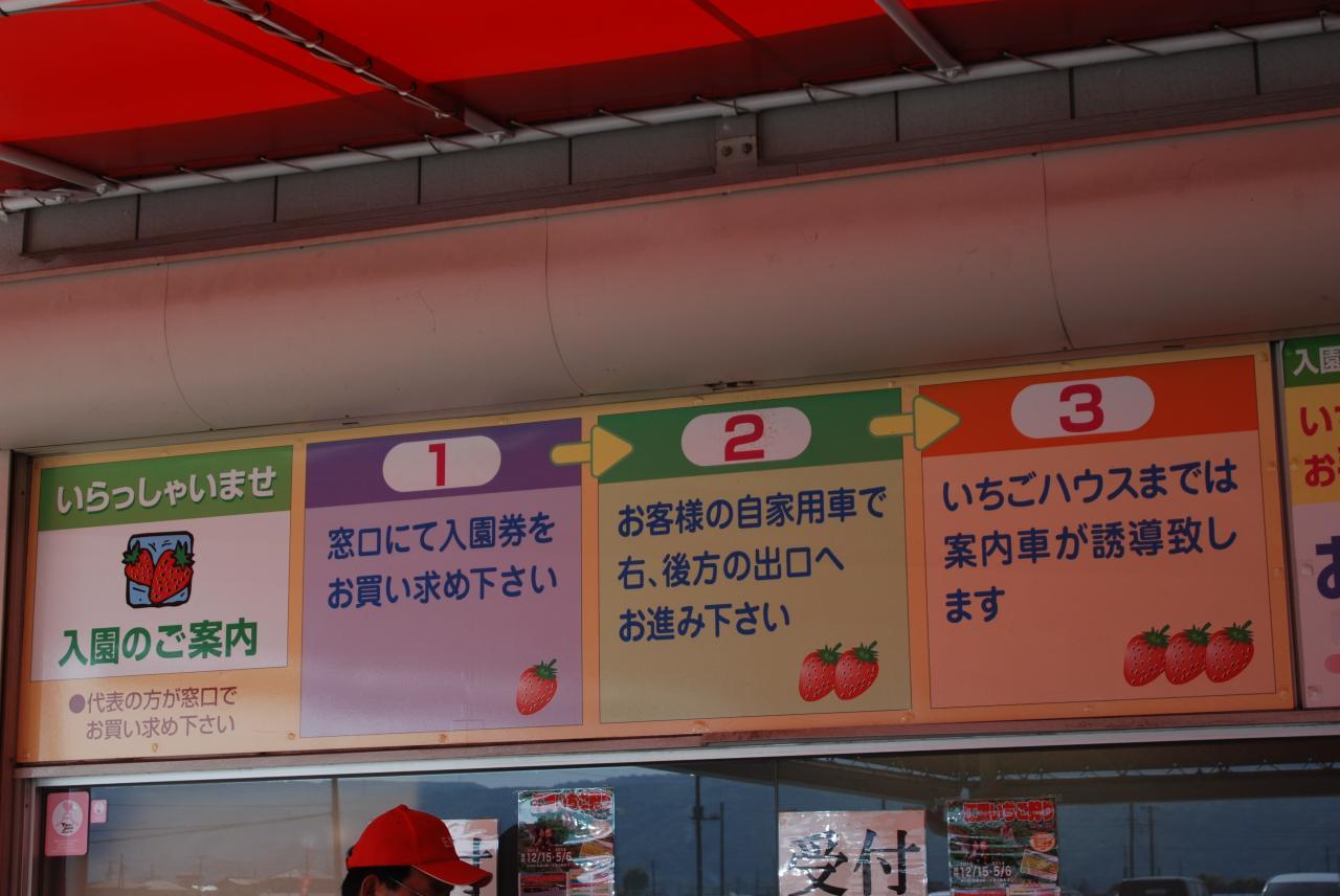 江間いちご狩りセンター(利用方法)