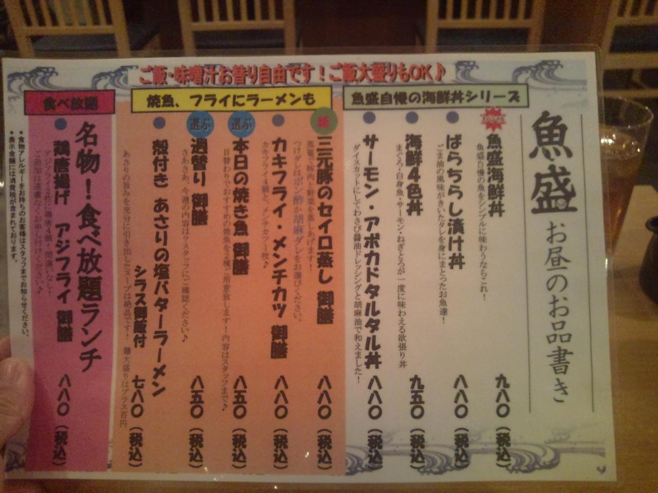 魚盛 日本橋店(店内)