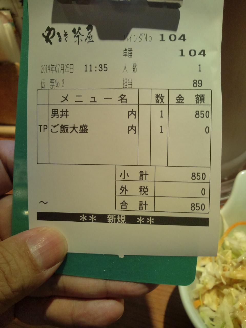 やるき茶屋下北沢南口店(男丼大盛り)