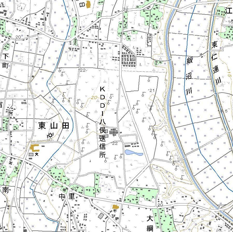 1:25000 map of KDDI Yamata.