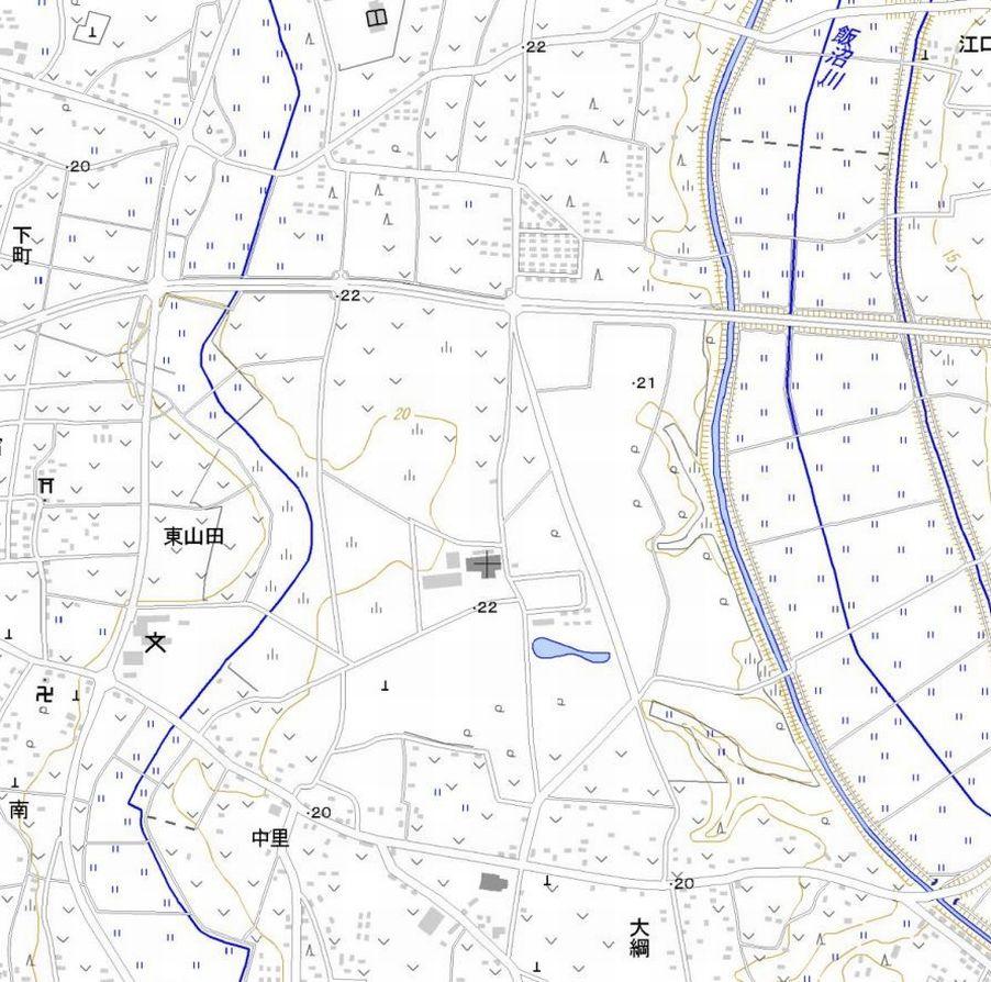 Digital map of KDDI Yamata