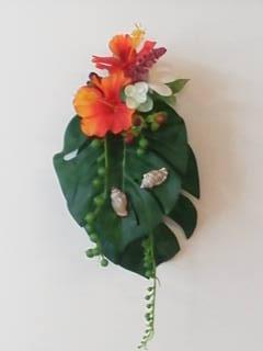 ハワイアン壁掛けアレンジ