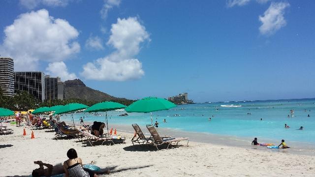 ハワイのビーチ