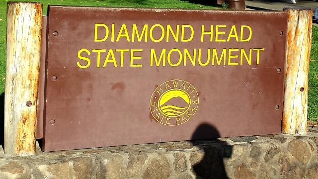 ダイヤモンドヘッドの看板