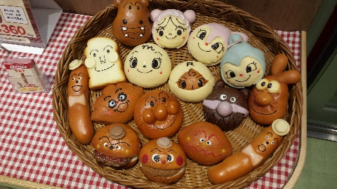 神戸アンパンマンミュージアムのパン