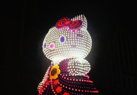 usj夜のパレードのキティーちゃん