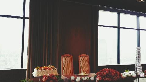 ホテルモントレグラスミア披露宴会場の景色